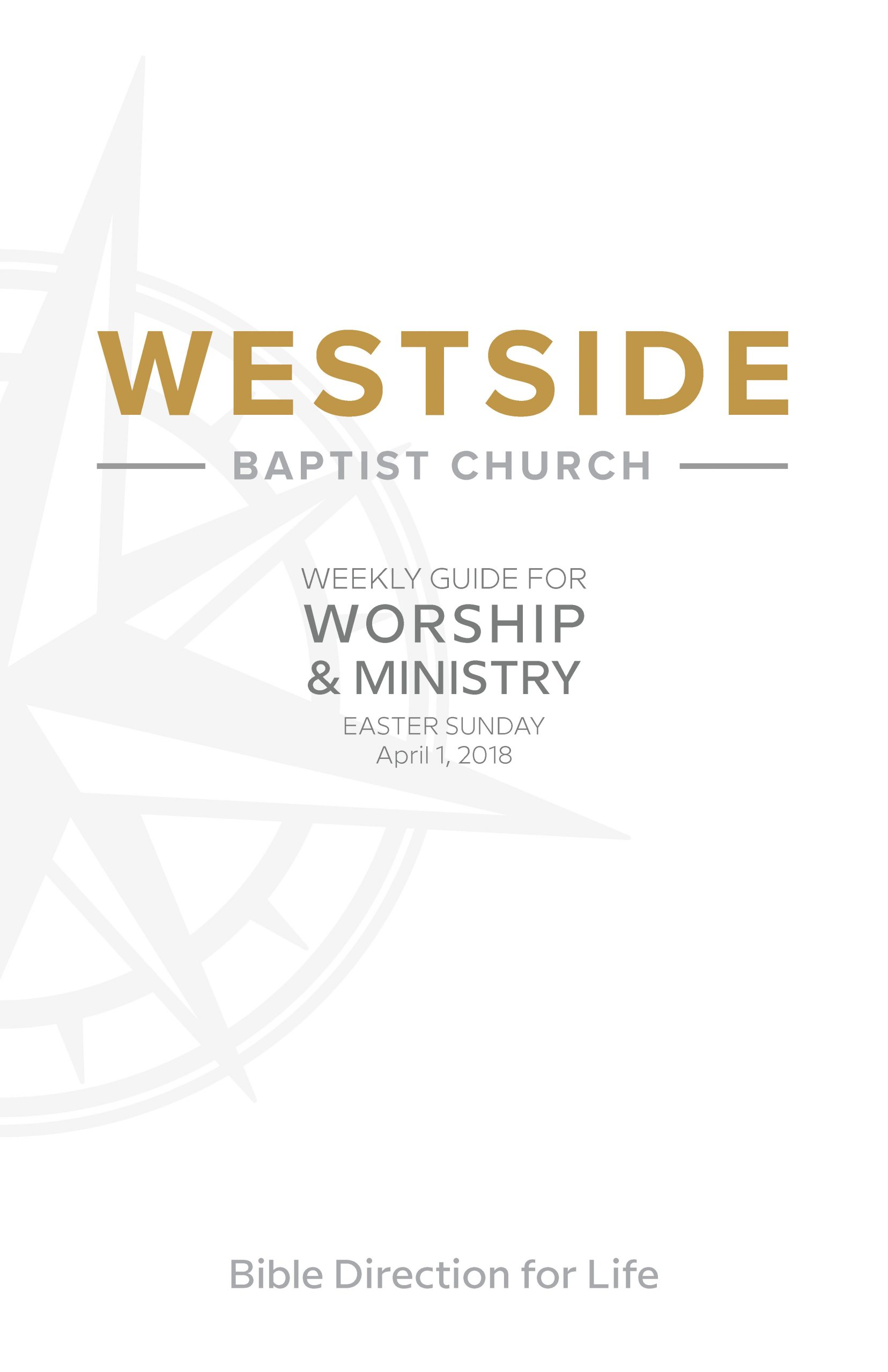 Weekly Guide for Worship and Ministry—Easter Sunday, April 1