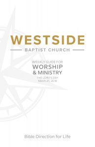 Weekly Guide for Worship and Ministry—March 25