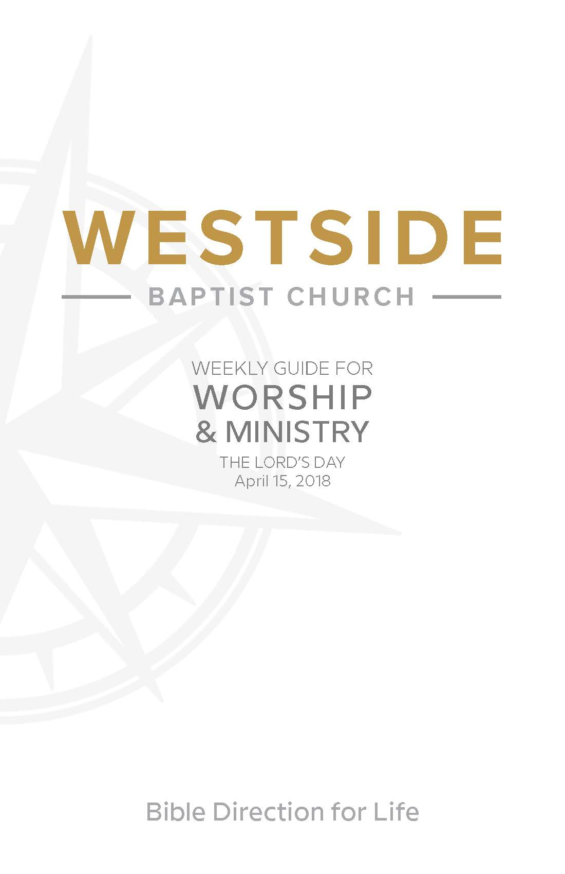 Weekly Guide for Worship and Ministry—April 15