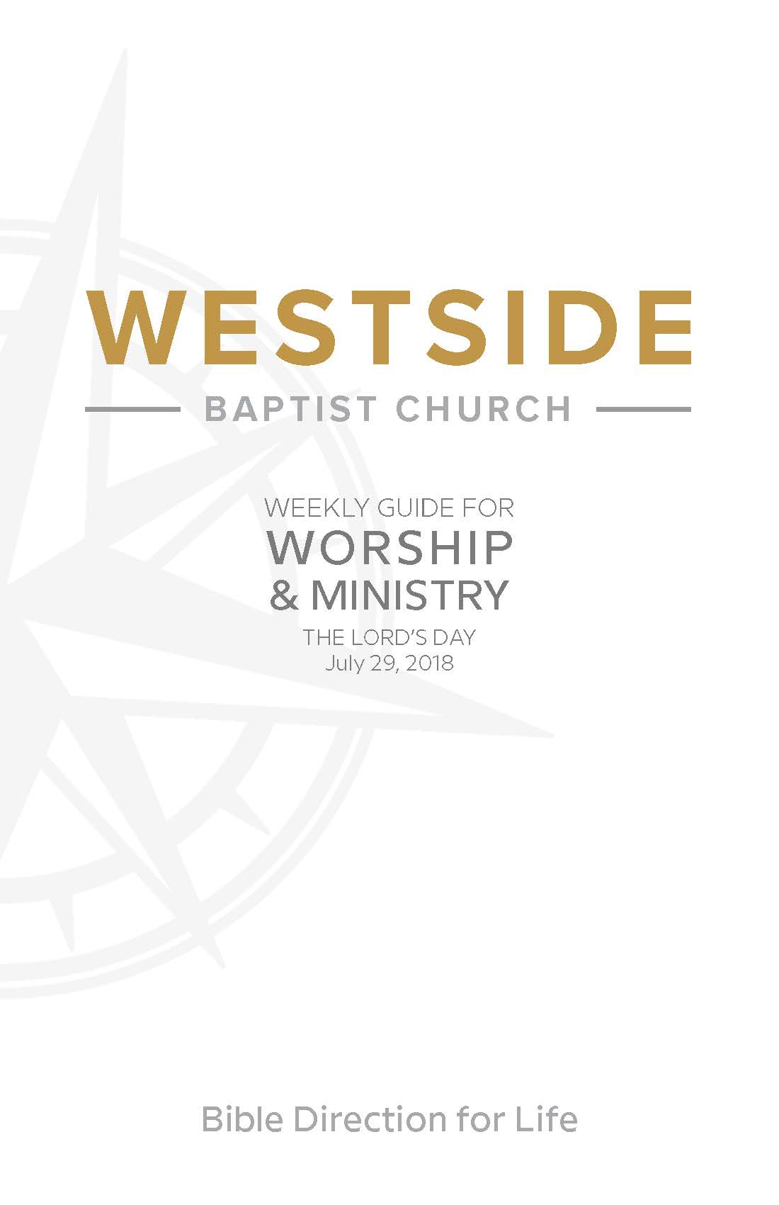 Weekly Guide for Worship and Ministry—July 29