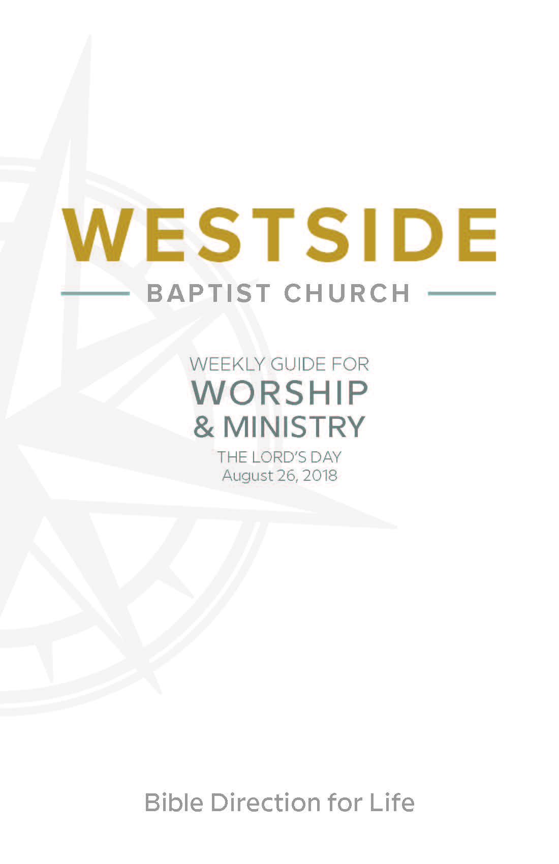 Weekly Guide for Worship and Ministry—August 26