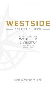 Weekly Guide for Worship and Ministry—August 5