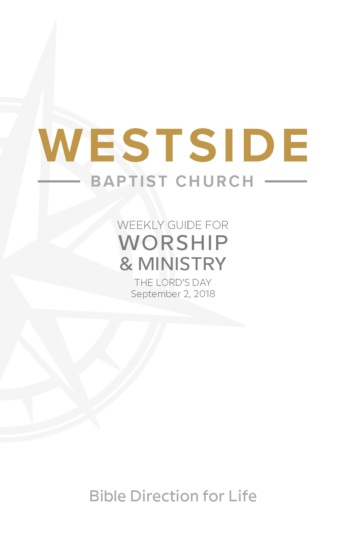 Weekly Guide for Worship and Ministry—September 2
