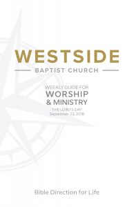 Weekly Guide for Worship and Ministry—September 23