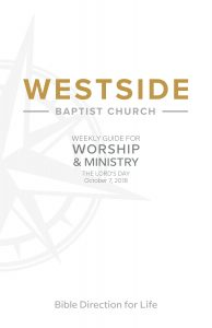 Weekly Guide for Worship and Ministry—October 7