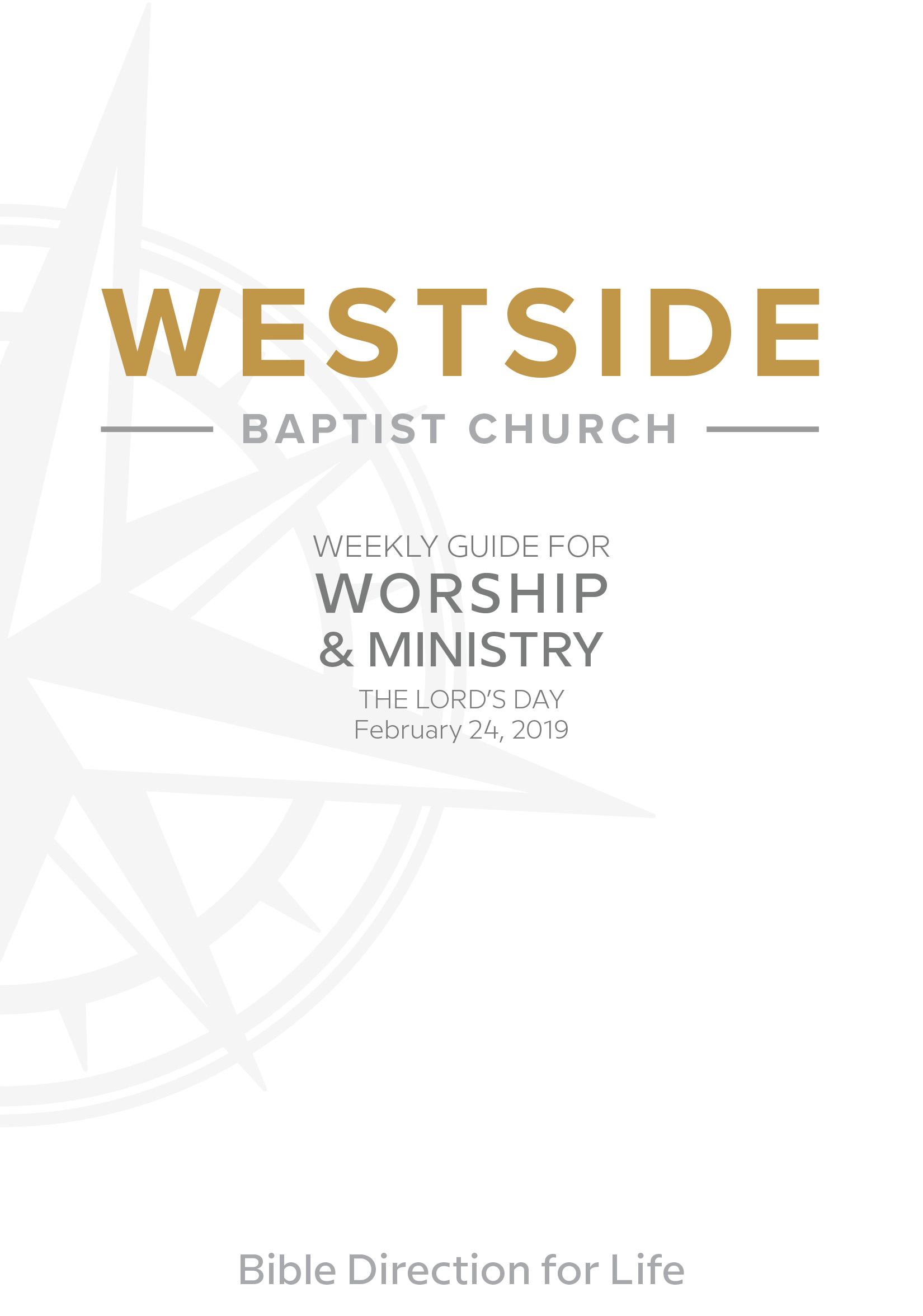 Weekly Guide for Worship and Ministry—February 24