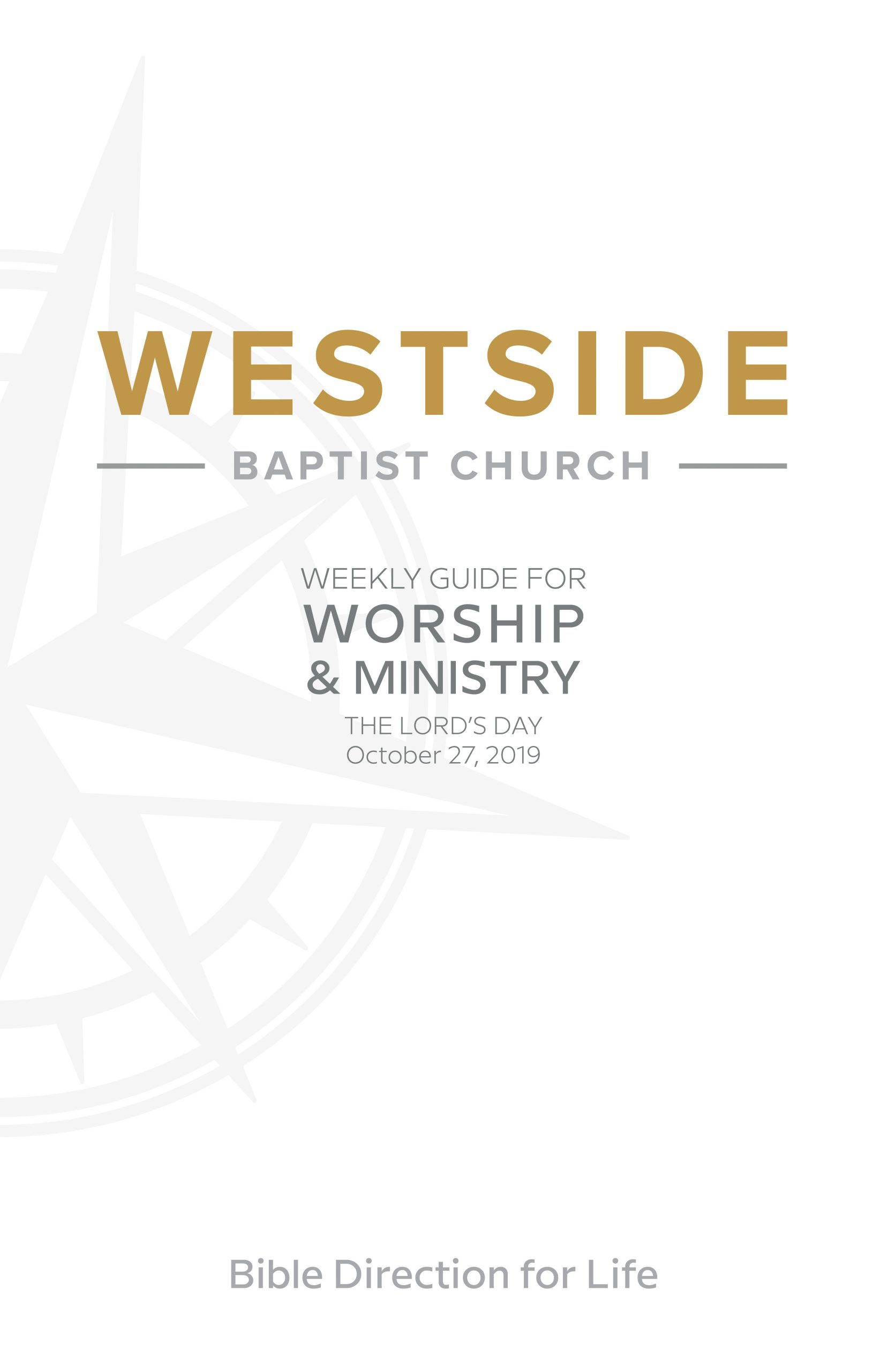 Weekly Guide for Worship and Ministry—October 27