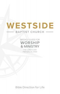 Weekly Guide for Worship and Ministry — February 23