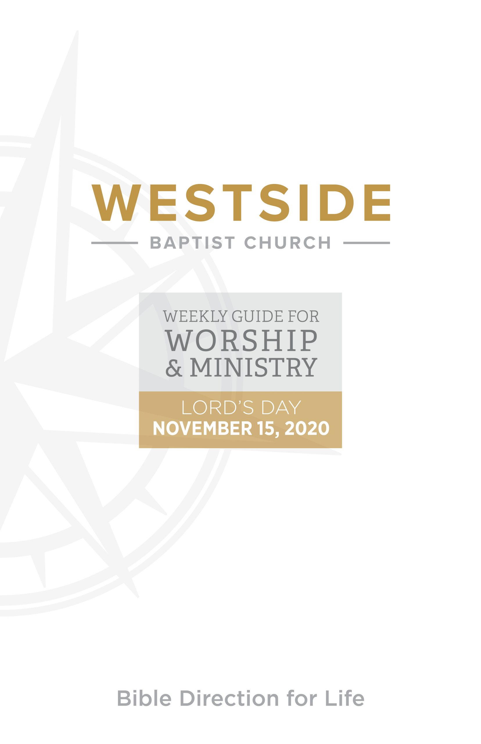 Weekly Guide for Worship and Ministry — November 15